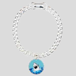 Shark Attack Charm Bracelet, One Charm