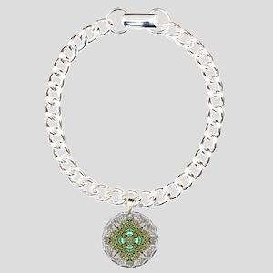 green diamond bling Charm Bracelet, One Charm