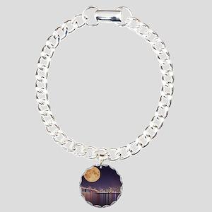 San Francisco Full Moon Charm Bracelet, One Charm