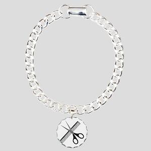 scissors & comb Charm Bracelet, One Charm