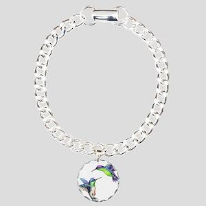 Pair of Metallic Green B Charm Bracelet, One Charm