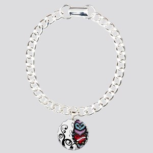 Whimsical Owl with Heart Charm Bracelet, One Charm