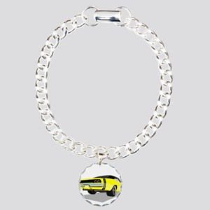 1968 Charger in Yellow w Charm Bracelet, One Charm