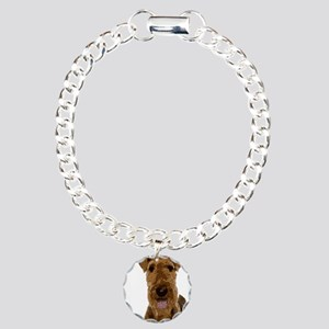 Airedale Painted Charm Bracelet, One Charm