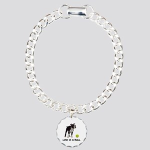 Boston Terrier Life Charm Bracelet, One Charm