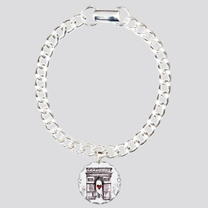 Paris with love Charm Bracelet, One Charm