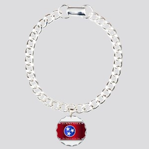 Tennessee State License Charm Bracelet, One Charm