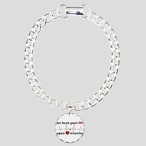 Open heart warrior Charm Bracelet, One Charm
