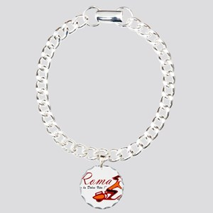 ROME SCOTTER GIRL Charm Bracelet, One Charm