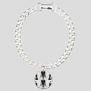 1920s flapper 2 Charm Bracelet, One Charm