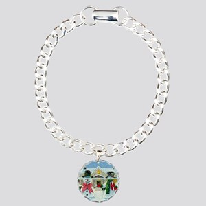 American Snowman Gothic Charm Bracelet, One Charm