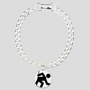 Curling-A Charm Bracelet, One Charm