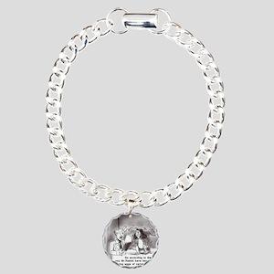 Easter Funny Bunny Charm Bracelet, One Charm