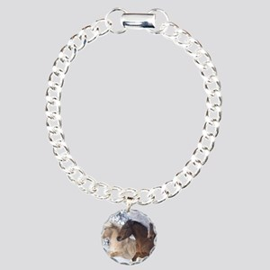 Horses Running In The Snow Charm Bracelet, One Cha