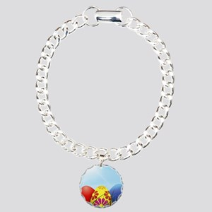 easter eggs Charm Bracelet, One Charm