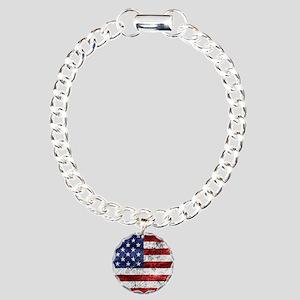 Grunge American Flag Bracelet
