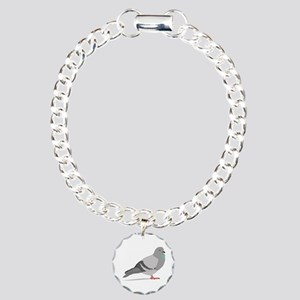 Cartoon Pigeon Charm Bracelet, One Charm