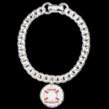 Customizable Life Preserver Charm Bracelet, One Ch