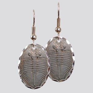 Trilobite fossil Earring Oval Charm