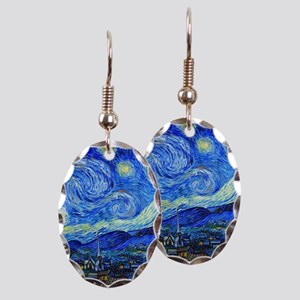 Van Gogh - Starry Night Earring Oval Charm