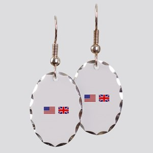 USA UK Flags for White Stuff Earring Oval Charm