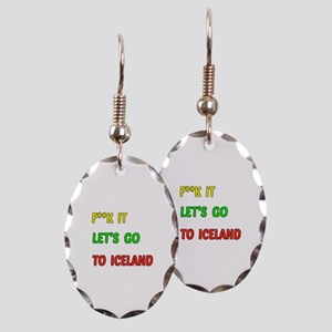 Let's go to Iceland Earring Oval Charm
