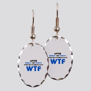 The Calendar Says WTF Earring Oval Charm