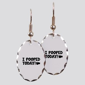 I Pooped Today! Earring Oval Charm