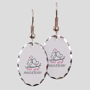 8f0526d4ac 1st Anniversary Cute Couple Doo Earring Oval Charm