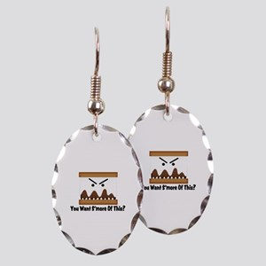 You Want S'more Of This? Earring Oval Charm