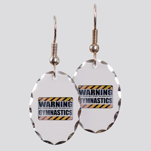 Warning: Gymnastics Earring Oval Charm
