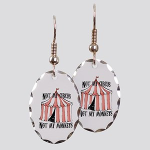 Not my circus Earring Oval Charm