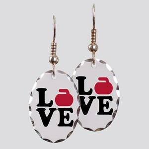Curling love stone Earring Oval Charm