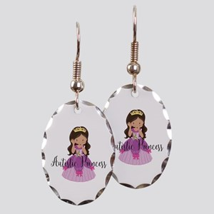Autistic Princess Ethnic Earring Oval Charm