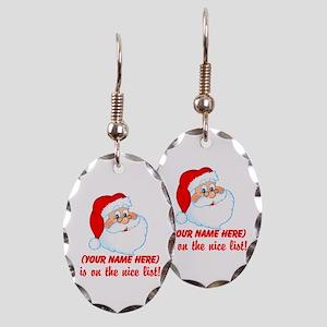 b563a3ec5b86c Funny Christmas Name Earrings - CafePress