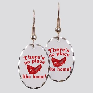 No Place Like Home Ruby Slippers Earring Oval Char