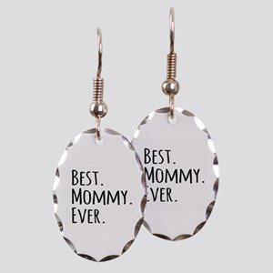 Best Mommy Ever Earring Oval Charm