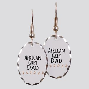 African Grey Dad Earring