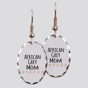 African Grey Mom Earring