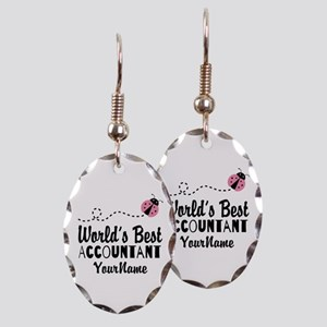 World's Best Accountant Earring Oval Charm