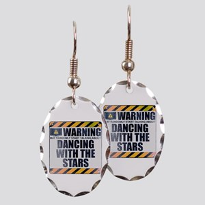 Warning: Dancing With the Stars Earring Oval Charm
