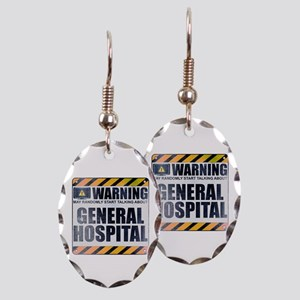 Warning: General Hospital Earring Oval Charm
