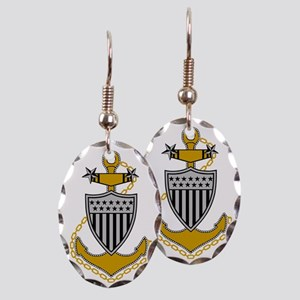 USCG-MCPO-Black-Shirt-2 Earring Oval Charm