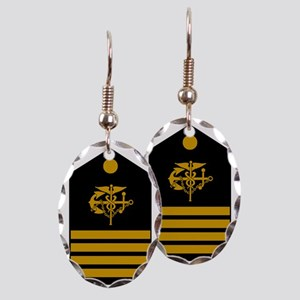 USPHS-CAPT-Board Earring Oval Charm