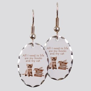 Cats and books Earring