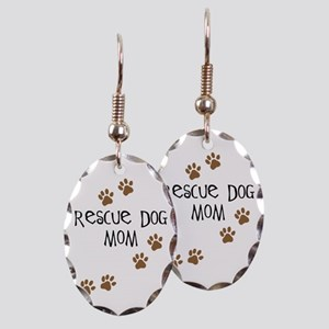 Rescue Dog Mom Earring Oval Charm