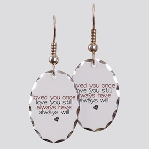 loved you once love you still.. Earring Oval Charm