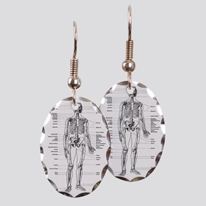 labeled skeleton Earring Oval Charm