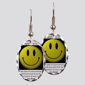 Happiness Earring Oval Charm