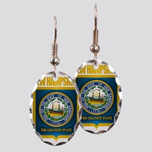 New Hampshire Seal (back) Earring Oval Charm